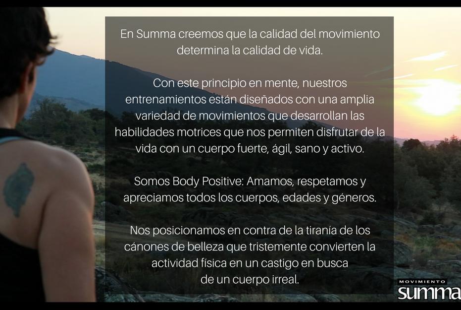 Vision del Movimiento SUMMA