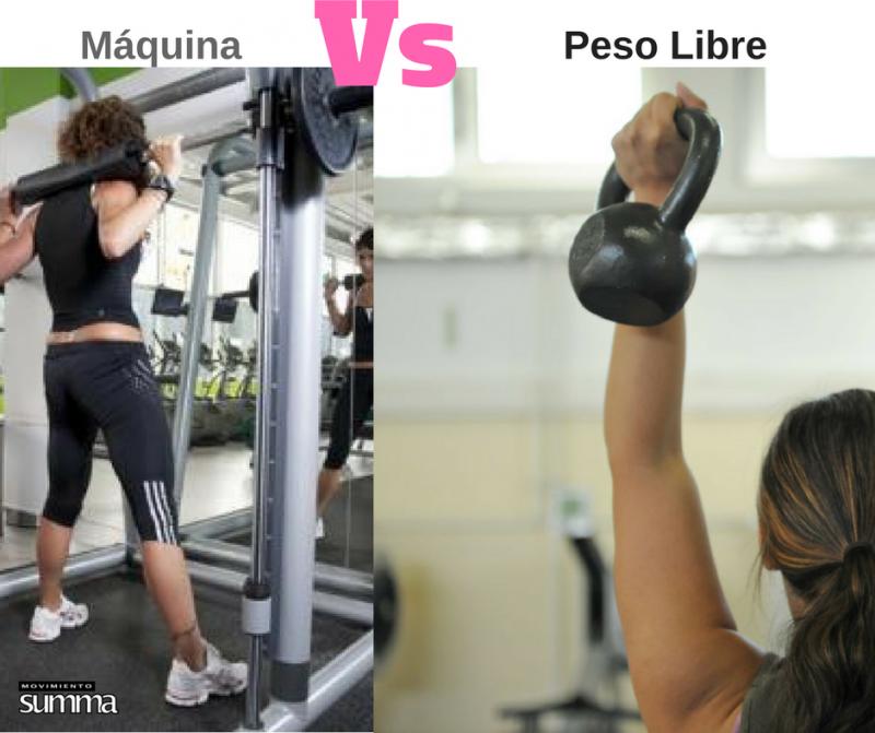 maquina gimnasio vs pesas libres