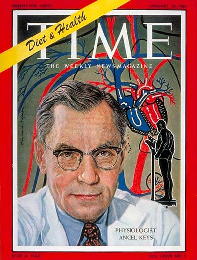 Ancel Keys en la tapa de la revista TIME en 1961