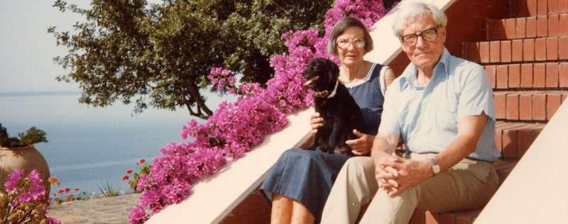 Ancel y Margaret Keys en su casa al sur de Italia