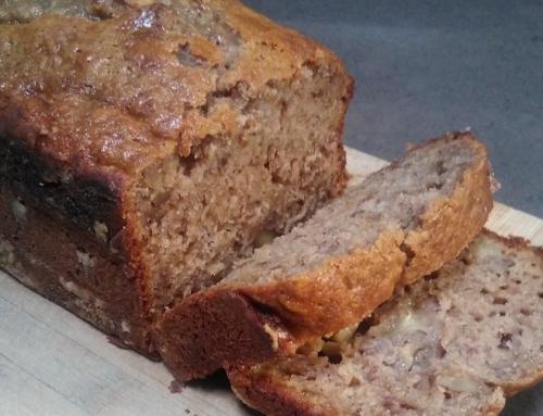 Pan de Plátano con harina de espelta y miel (sin azúcar y sin mantequilla)